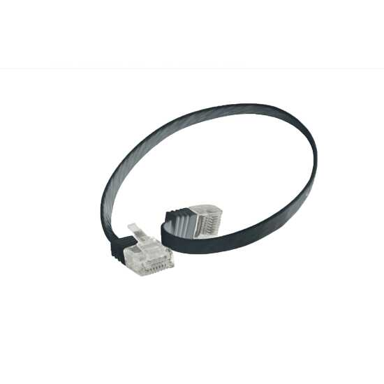 Quality Patchkabel Slimline - extra flach - super flexibel - U/UTP - Cat. 6 - schwarz - 0,25 m