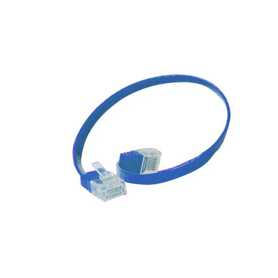 Quality Patchkabel Slimline - extra flach - super flexibel - U/UTP - Cat. 6 - blau - 0,5 m