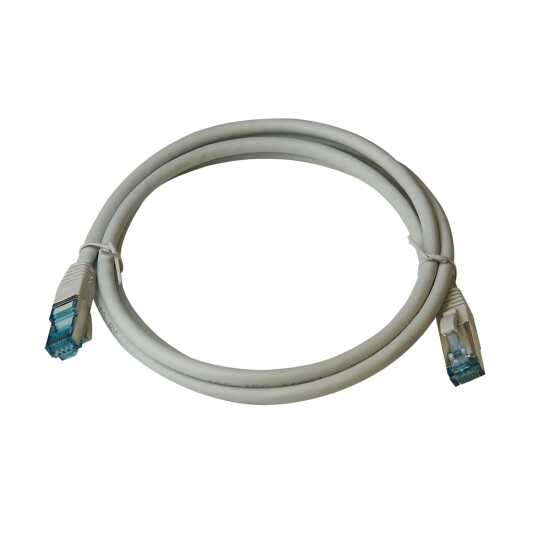 IT-BUDGET Vollkupfer Premium Patchkabel - Cat.6A - 500 MHz - halogenfrei - PoE+ - AWG 26/7 - grau - 30 m