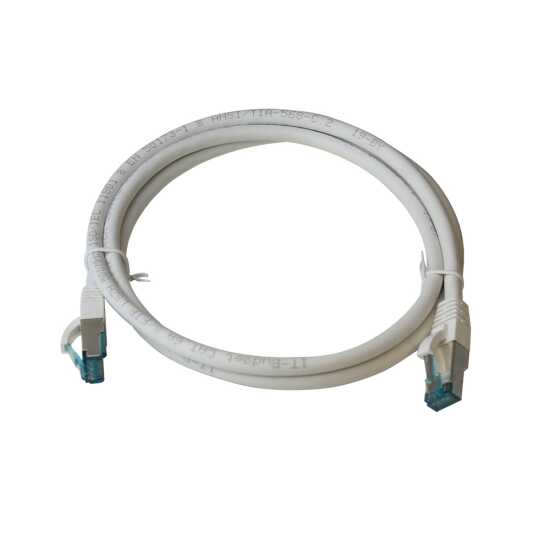 IT-BUDGET Vollkupfer Premium Patchkabel - Cat.6A - 500 MHz - halogenfrei - PoE+ - AWG 26/7 - weiß - 30 m