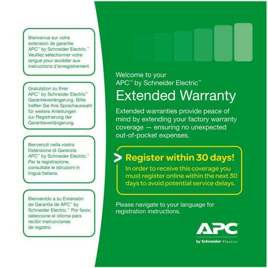 APC Extended Warranty Service Pack - Systeme Service & Support 3 Jahre