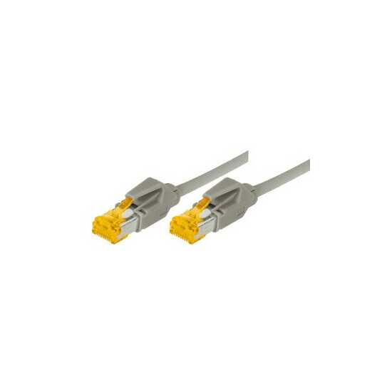 Draka - Top-Quality Patchkabel - Cat 6A - 7,5 m Länge - 2 x HIROSE TM31 Stecker - grau