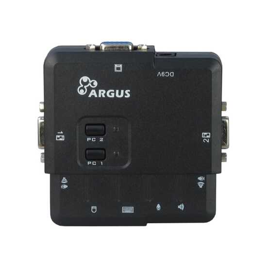 ARGUS Desktop-KVM Switch CS-21UA - Kunststoff - mit 2 Ports