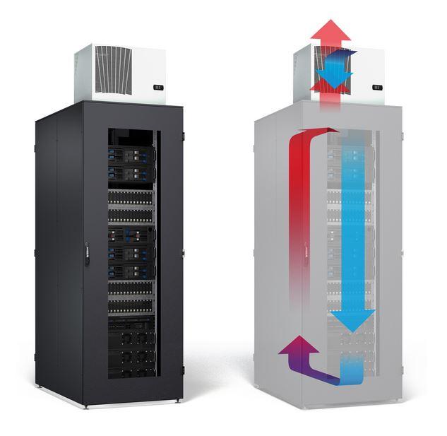Serverschrank IS-1 mit Dachklimaanlage